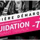 Coqueline Boutique Montpellier lance sa dernière démarque et annonce une liquidation avant travaux.