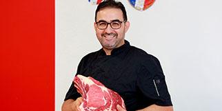 La boucherie Amazrin Montpellier Port Marianne est gérée par Hicham Amazrin (® SAAM-fabrice Chort)
